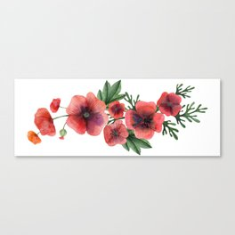Meadow Red Poppies Canvas Print