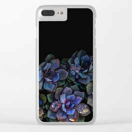 Succulents II Clear iPhone Case