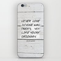 oscar wilde iPhone & iPod Skins featuring Quote / Oscar Wilde by Justified