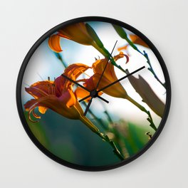 Morning Lilies - Canadian Raised Wall Clock