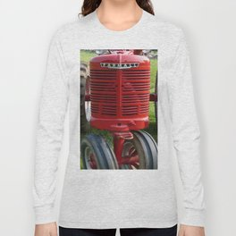Red Farmall Tractor Long Sleeve T-shirt
