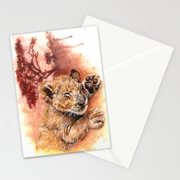 Sweet Dreams - Baby Lion Cub Stationery Cards