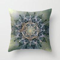 chakra Throw Pillows featuring Heart Chakra by brenda erickson