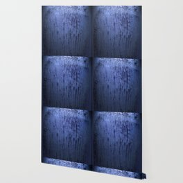 Old blue window at night Wallpaper