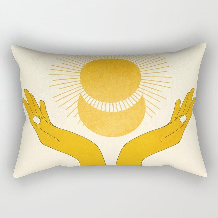 Holding the Light Rectangular Pillow