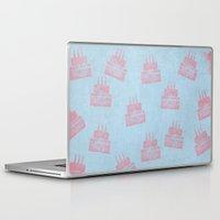 happy birthday Laptop & iPad Skins featuring Happy Birthday by sinonelineman