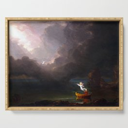 Thomas Cole The Voyage of Life Old Age Serving Tray