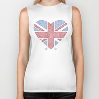 union jack Biker Tanks featuring Union Jack  by Joanne Hawker