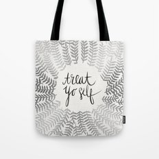 Treat Yo Self – Silver Tote Bag