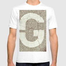 GGGG MEDIUM White Mens Fitted Tee