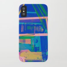 Industrial Abstract Blue 2 Slim Case iPhone X