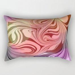 Pastel Abstract Marbling  Rectangular Pillow