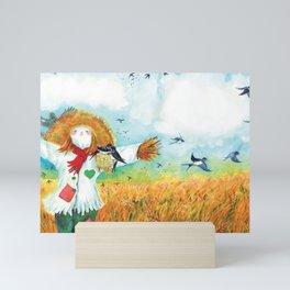 The Green Heart Scarecrow Mini Art Print