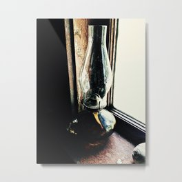 Oil Lamp, Waiting Metal Print