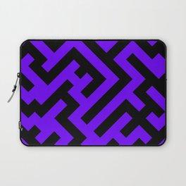 Black and Indigo Violet Diagonal Labyrinth Laptop Sleeve