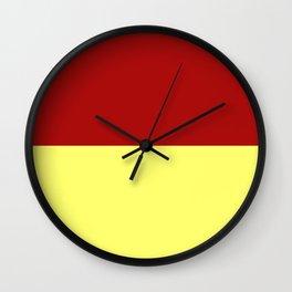 Cranberry Custard Wall Clock