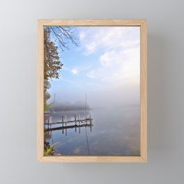 The Adirondacks: Misty October Morning Framed Mini Art Print