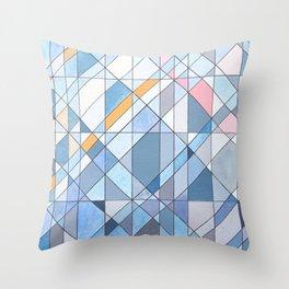 Triangle Pattern no.17 Light Blues Throw Pillow