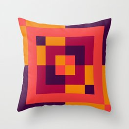 Blocked Out Throw Pillow