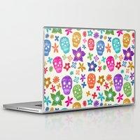 sugar skulls Laptop & iPad Skins featuring Sugar Skulls by Emmyrolland