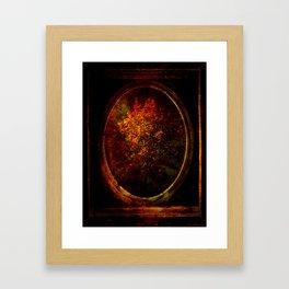 Autumn Tree Mirrored Framed Art Print