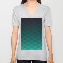 Graphic 949 // Grid Teal Fade Unisex V-Neck