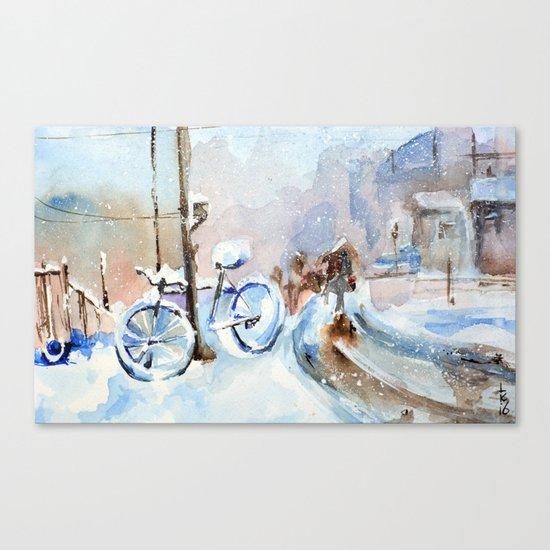 Lost bike Canvas Print