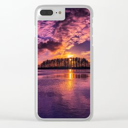 Cloudy Sunset Clear iPhone Case