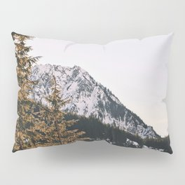 Snow Mountain in the Trees Pillow Sham