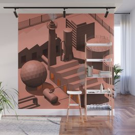 Low Poly Industry Wall Mural