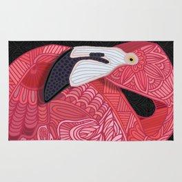 Pink Flamingos 2016 (black) Rug