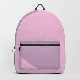 Pretty Pastel Pink and Purple Diagonal Color Block Backpack