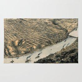 Map Of Kansas City 1869 Rug