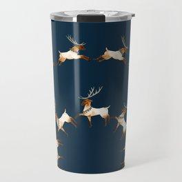 reindeer greetings Travel Mug