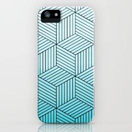 Cubism Teal iPhone Case
