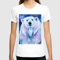 polar bear T-shirts featuring Polar bear  by Slaveika Aladjova