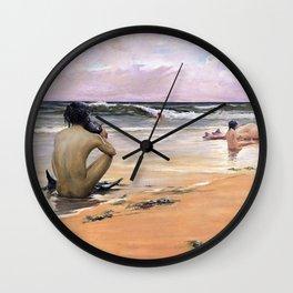 Sea idyll - Rupert Charles Wulsten Bunny Wall Clock