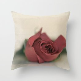 Single Rose fine art photography Throw Pillow