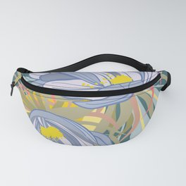 Night Blooming Cereus, Digital Painting, Wall art botanical poster Fanny Pack