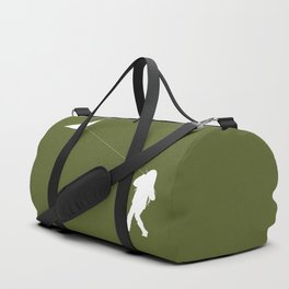 Little Girl with a Kite in Pine Green Duffle Bag