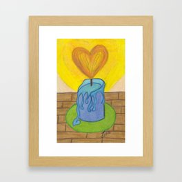 Burnin' Love Framed Art Print