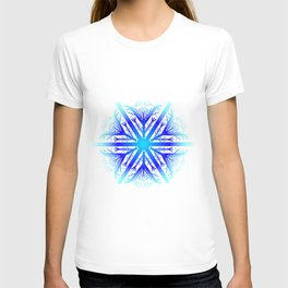 Blue Snowflake Design T-shirt