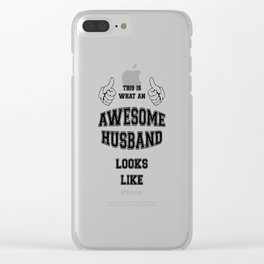 AWESOME HUSBAND Clear iPhone Case
