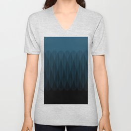 Blue to Black Ombre Signal Unisex V-Neck