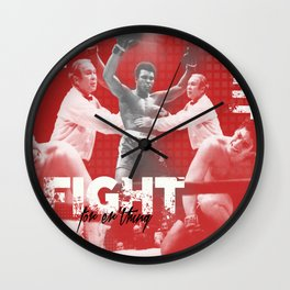 Fight For erthing Wall Clock