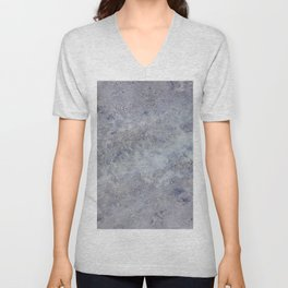 Speckled Blue and Gray Marble Unisex V-Neck