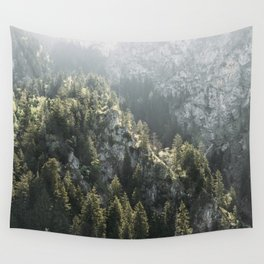 Mountain Lights - Landscape Photography Wall Tapestry