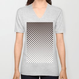 Brown diamonds with white background geometric pattern Unisex V-Neck