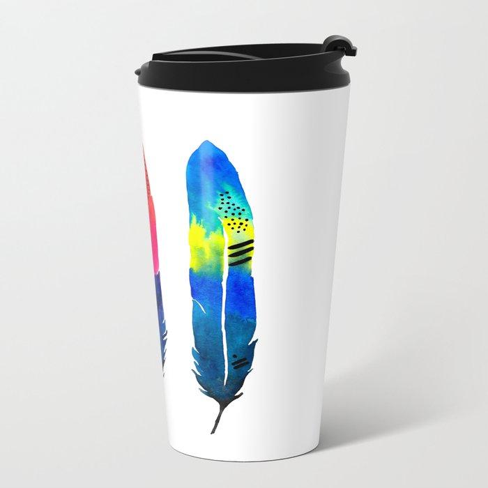 Tropical Quills Metal Travel Mug
