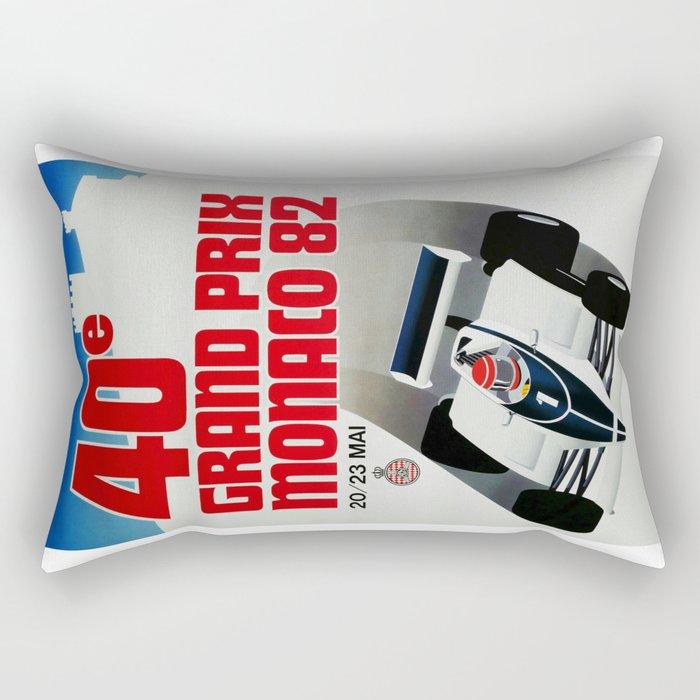 Gran Prix de Monaco, 1982, original vintage poster Rectangular Pillow